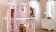 Cottage Castle Loft Bed Pink White Bolton Kids Furniture