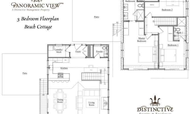 Cottage Floor Plans Panoramicview Distinctive