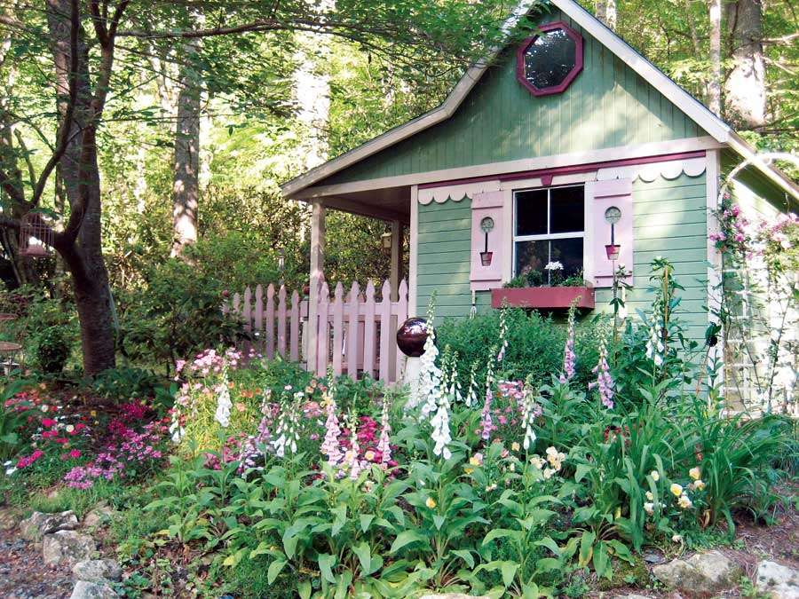 cottage garden sheds potted plants all seasons shed plans kits - Garden Sheds Ny