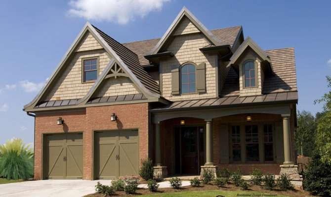 Cottage House Plan Front Elevation Master Down Plans