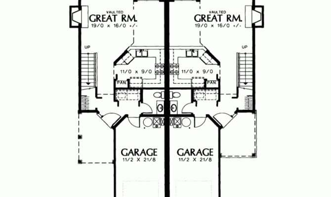 Cottage House Plan Petite Two Story Duplex Square Feet