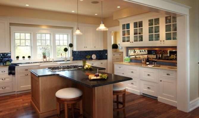 Cottage Kitchen Shaped Island Unusual