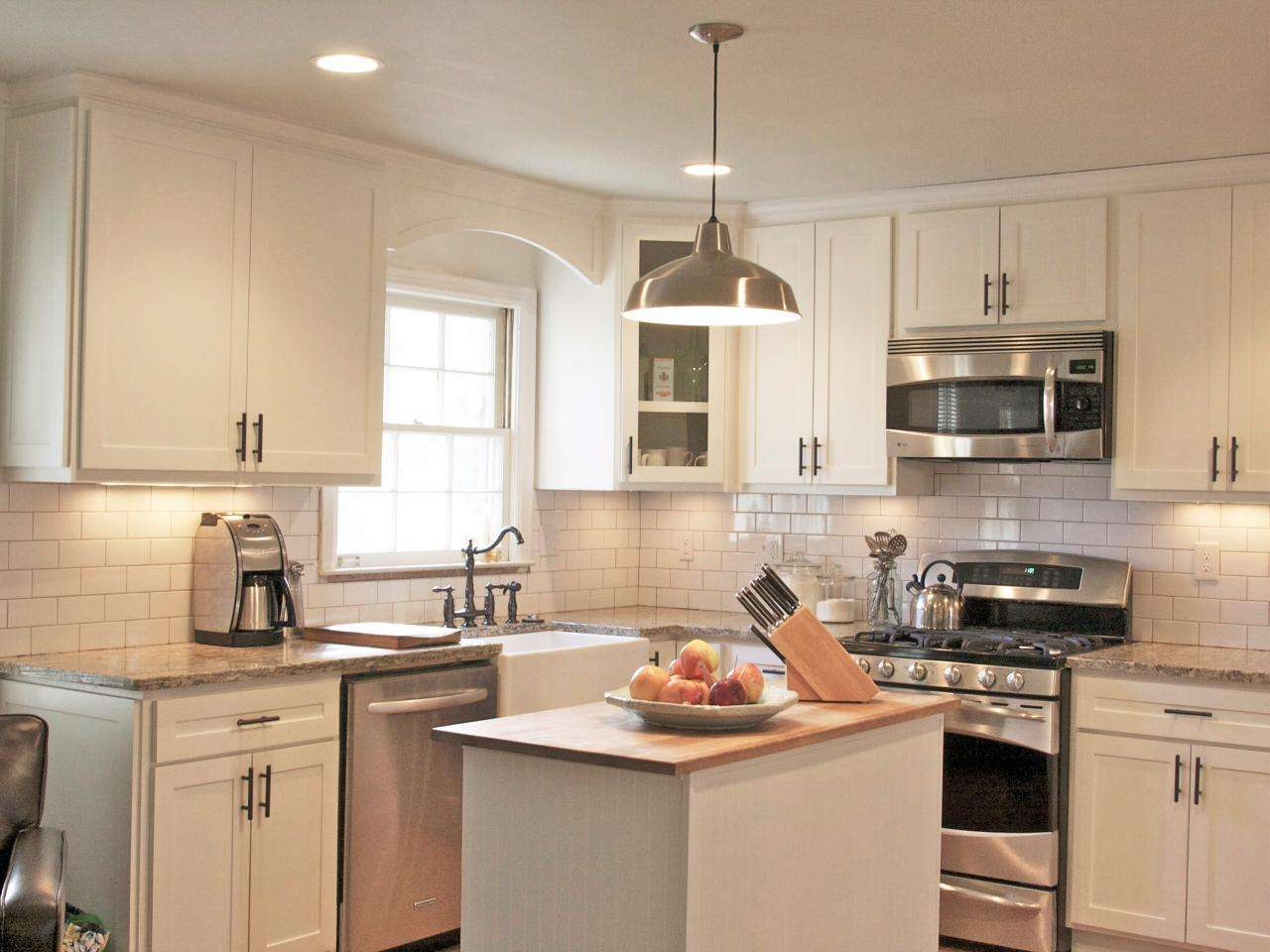 Cottage Kitchen Stainless Steel Appliances Charming