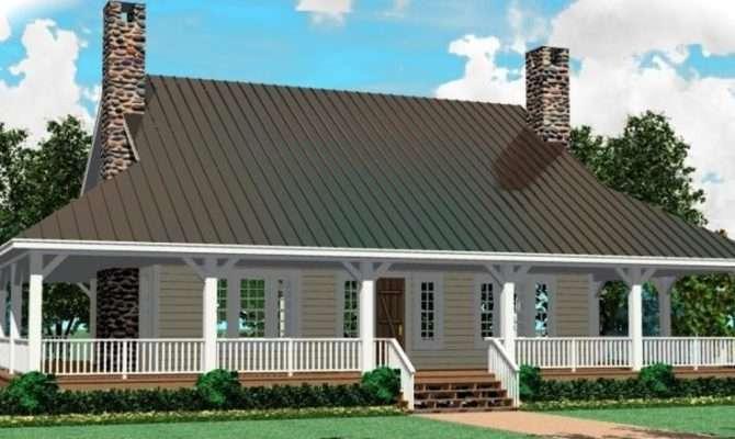 Cottage Wrap Around Porch Open Floor Plan House Plans