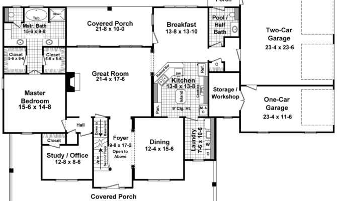 Country Beauty Wrap Around Porches First Floor Plan Maverick
