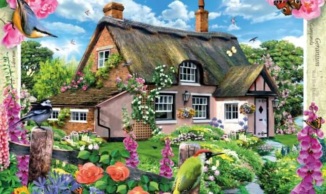 Country Cottage Collection Foxglove Adult Puzzles