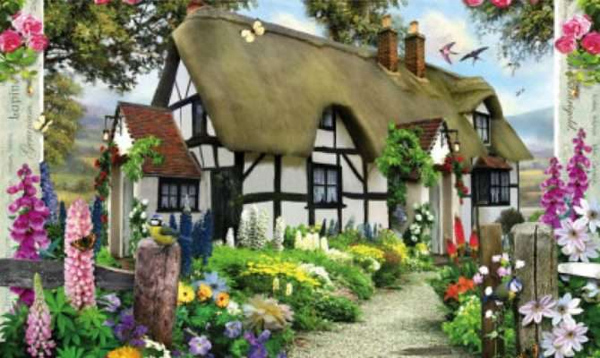 Country Cottage Collection Rose Jigsaw Puzzle Ravensburger