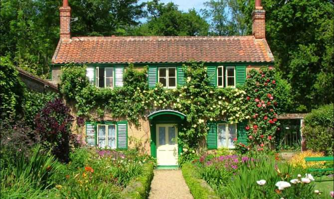 Country Cottage Green Shutters