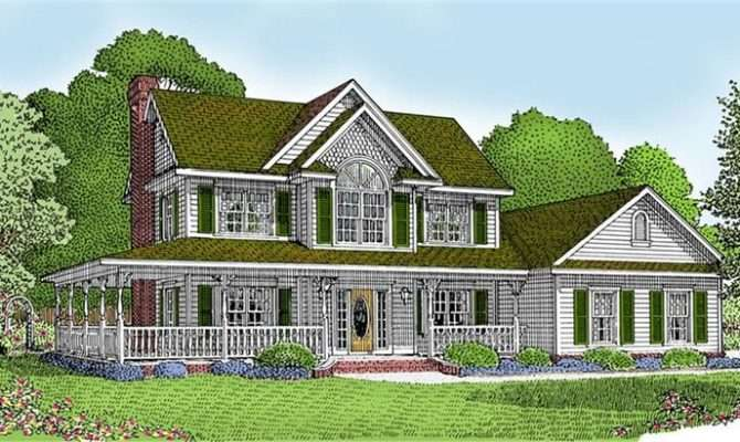 Country Home Wrap Around Porch House Plans