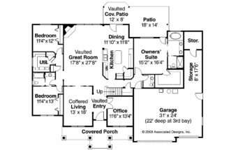 Country House Plan Allison Floor