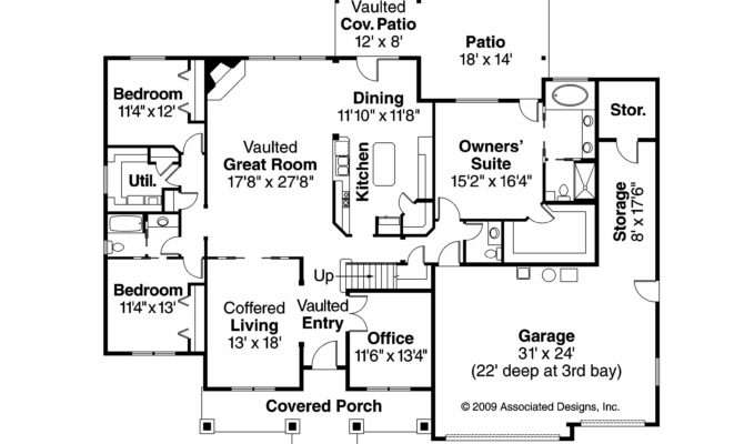 Country House Plan Allison Floor