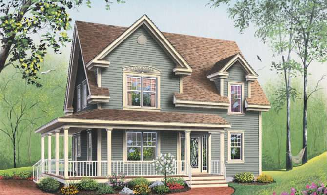 Country House Plan Front Plans More