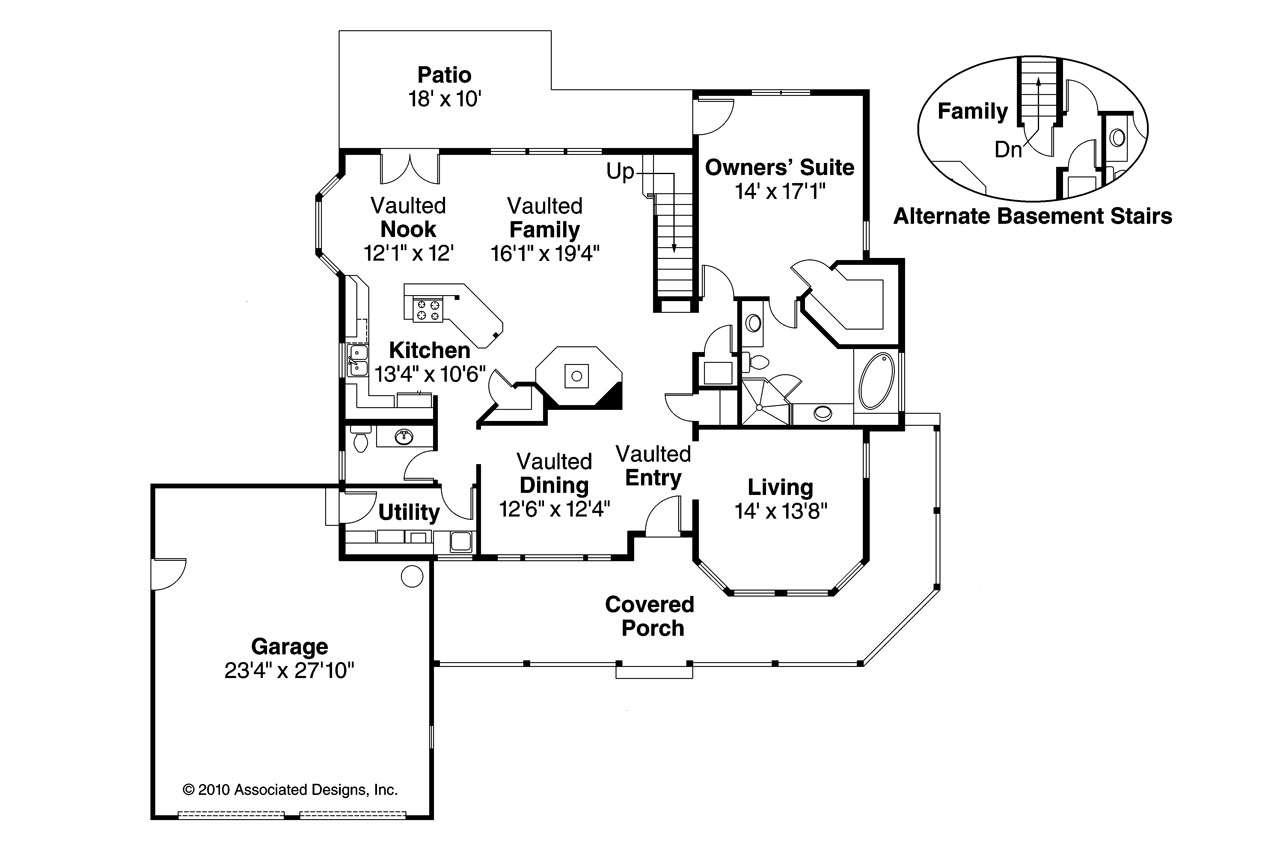 Country House Plan Trinity Floor