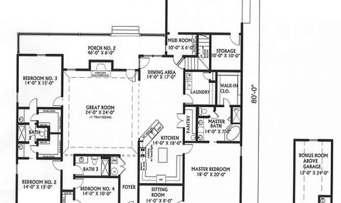 Country House Plans Big Kitchens Design