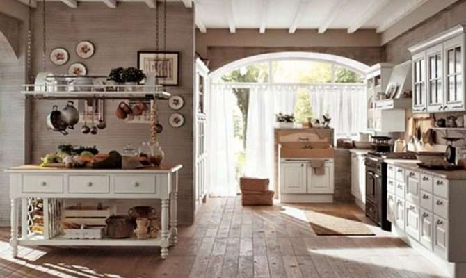 Country Kitchen Design Old Hardwood Flooring