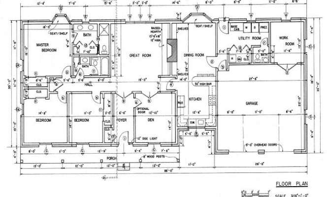 Country Ranch House Designing Kitchen Floor Plan Stroovi