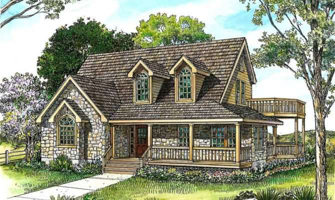 Country Stone Cottage Home Plan Floor