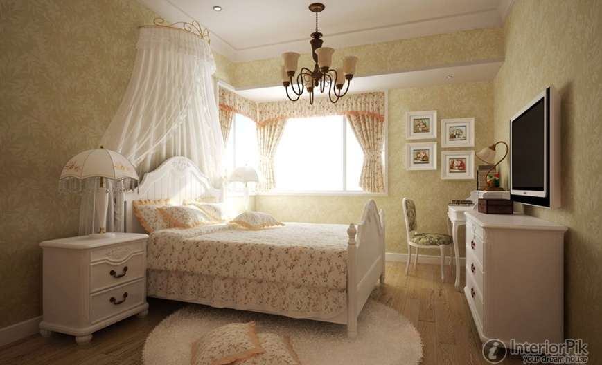 Country Style Bedroom Wall