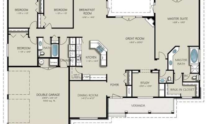 Country Style House Plan Beds Baths