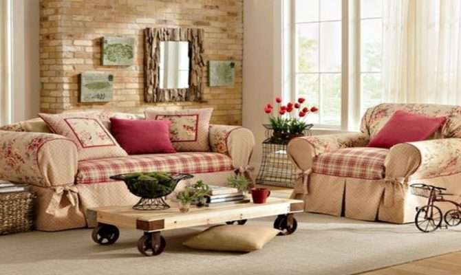 Country Style Living Rooms Ideas Fall Decorating