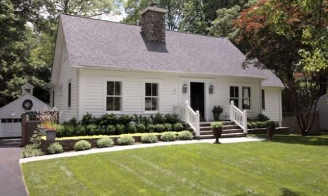 Country Styled Home Design Large Simple Landscaping