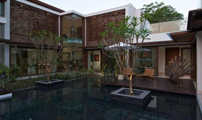 Courtyard House Ahmedabad India Home Design