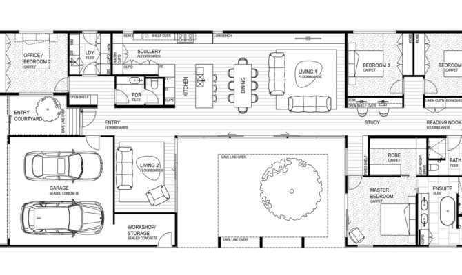 Courtyard House Floor Plans