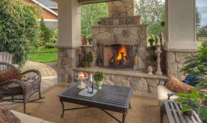 Covered Patios Fireplaces Home Design Ideas