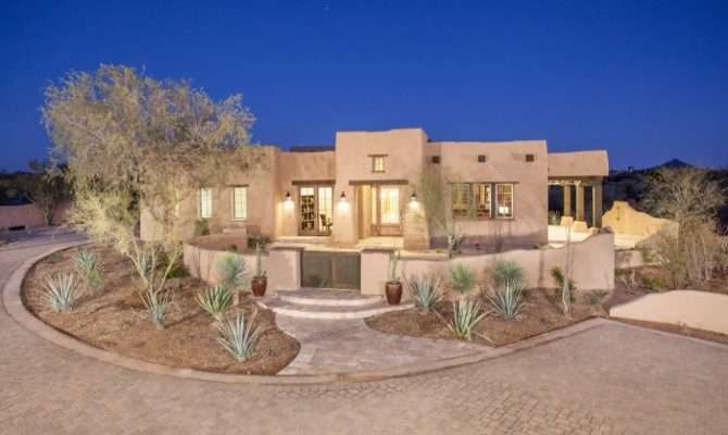 Cozy Adobe Style Desert Homes Architecture Pinterest