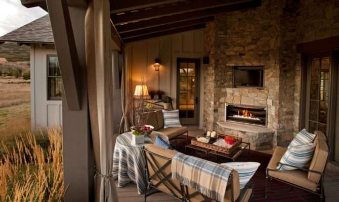 Cozy Outdoor Fireplaces Design Landscaping