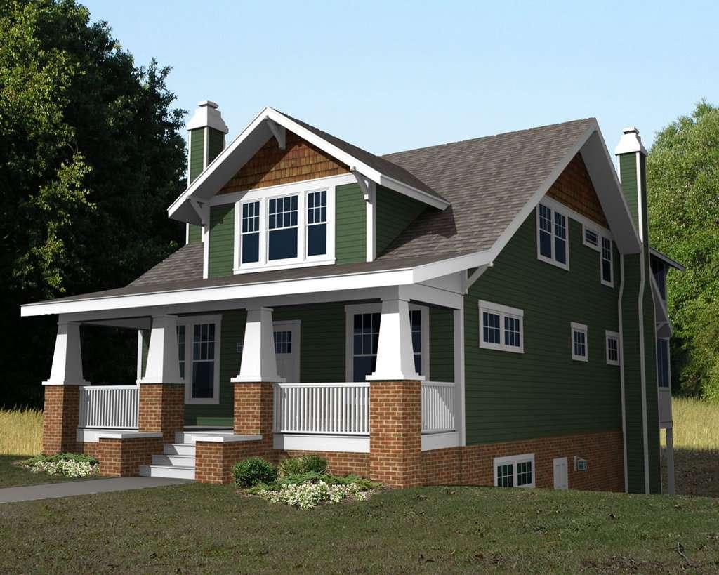 Craftsman Beds Baths Plan Houseplans