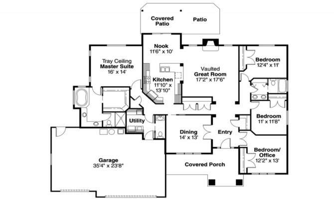 Craftsman House Floor Plans One Story