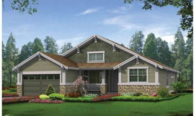 Craftsman House Plan Open Floor Compliments Relaxed Modern