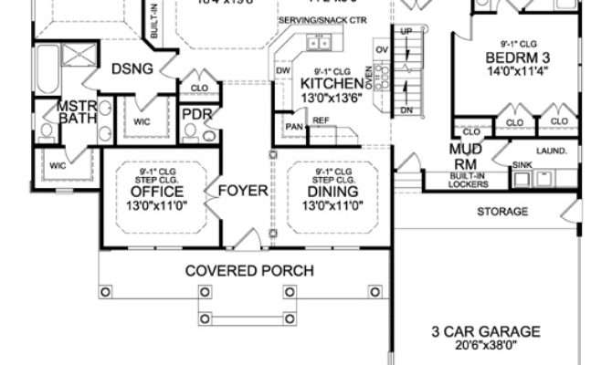 Craftsman House Plan Walk Out Basement