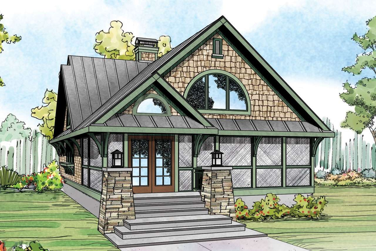 Craftsman House Plans Back Porch