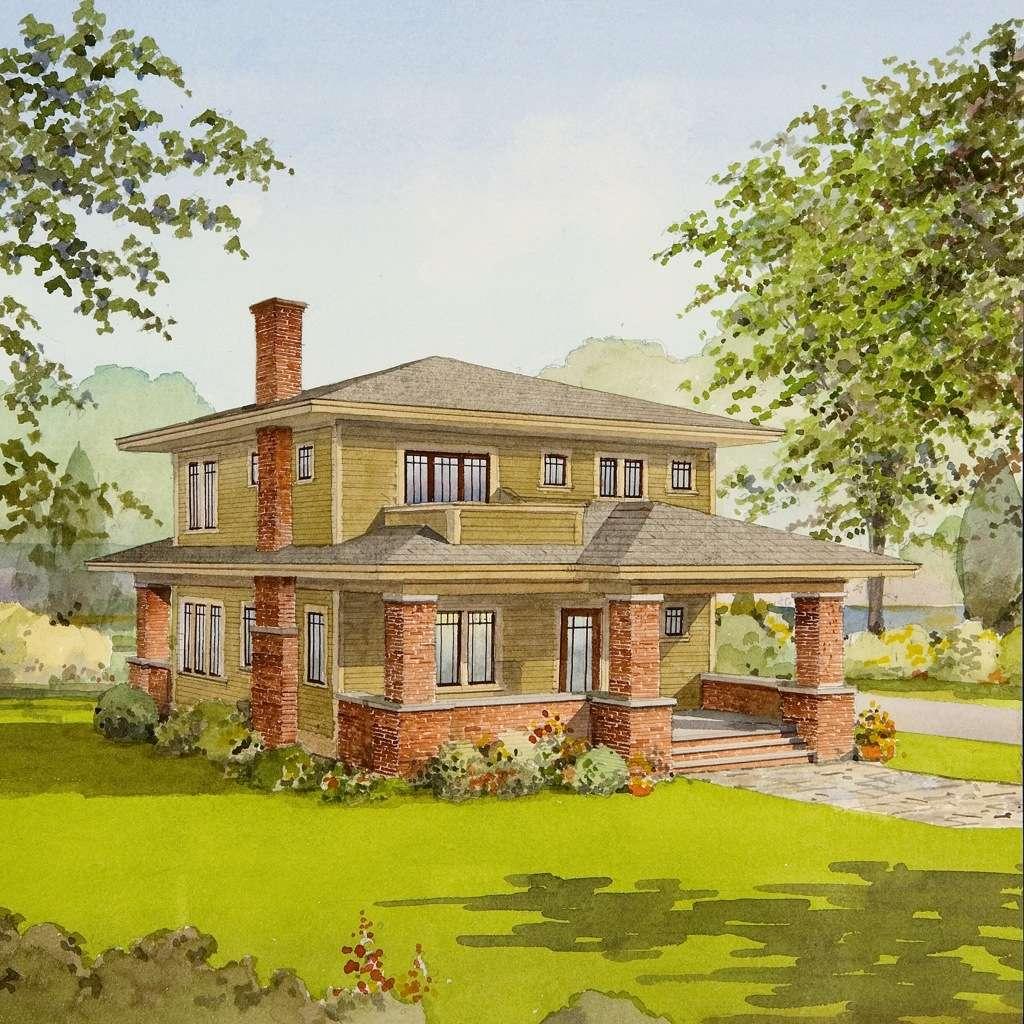 Craftsman House Plans Large Porches