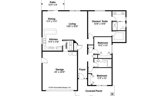 Craftsman House Plans Ravenden Associated Designs