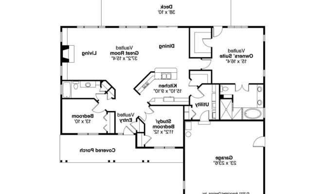 Craftsman House Plans Split Ranch Bedroom Floor Best
