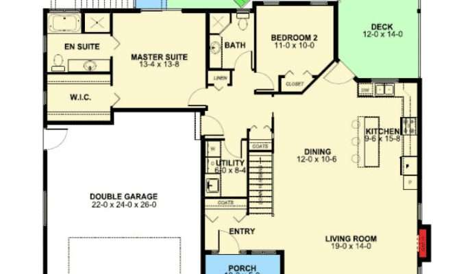 Craftsman Ranch Home Plan Finished Basement