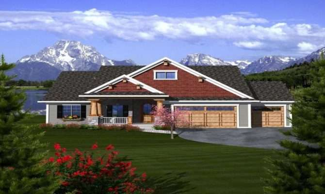 Craftsman Ranch House Plans Car Garage