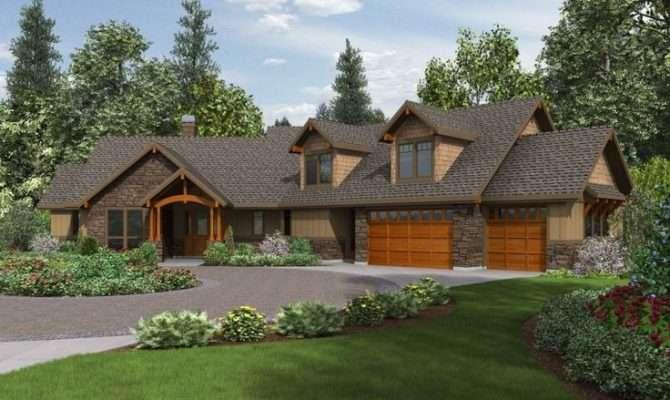 Craftsman Ranch House Plans Walkout Basement Two