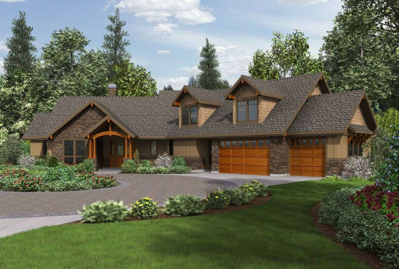 Craftsman Ranch House Plans Walkout Basement