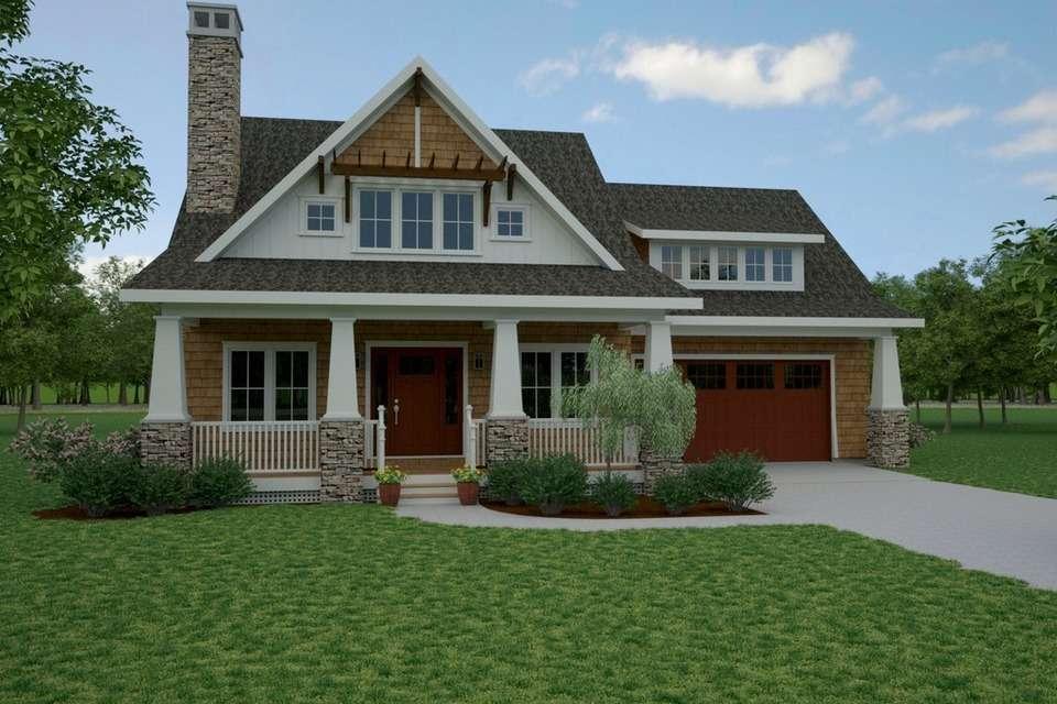 Craftsman Style Details Like Wide Porch Shed Dormer Window