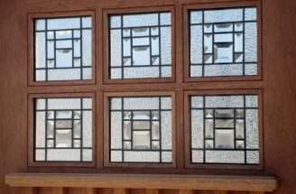 Craftsman Style Door Glass Installed Available Dentil Shelf