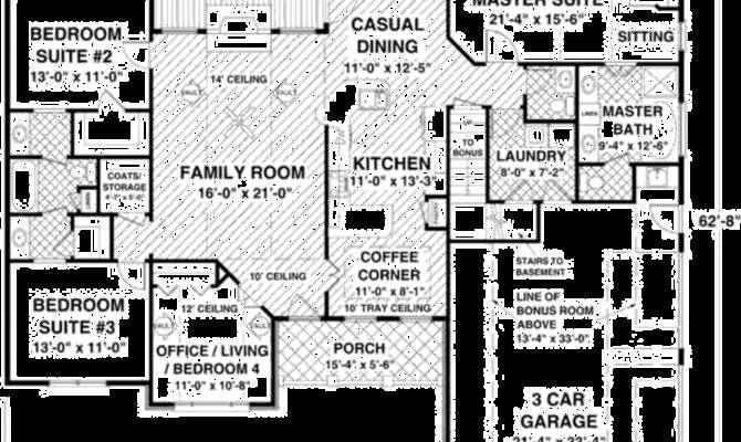Craftsman Style House Plan Beds Baths