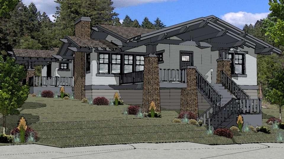 craftsman style house plan bend oregon boards plans