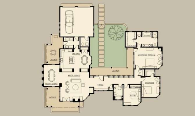 Creative Hacienda Style Floor Plans Remodel Interior Decor Home