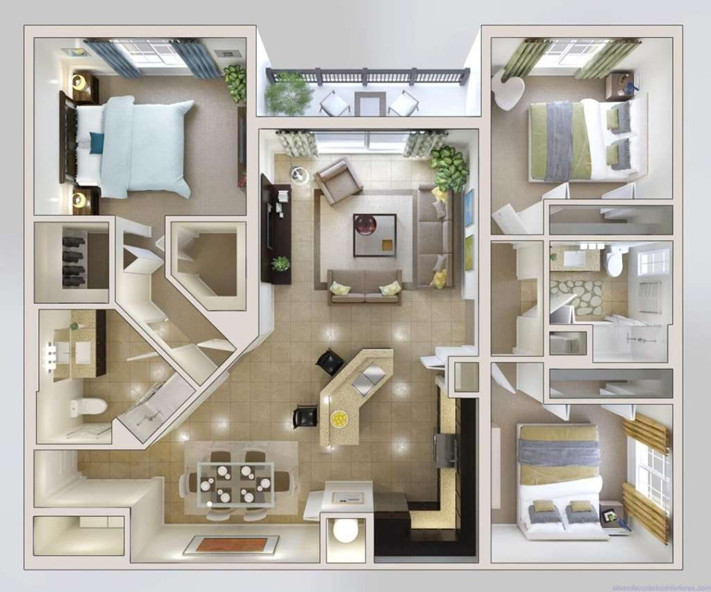 Creative Modern Bedroom House Plans Plan