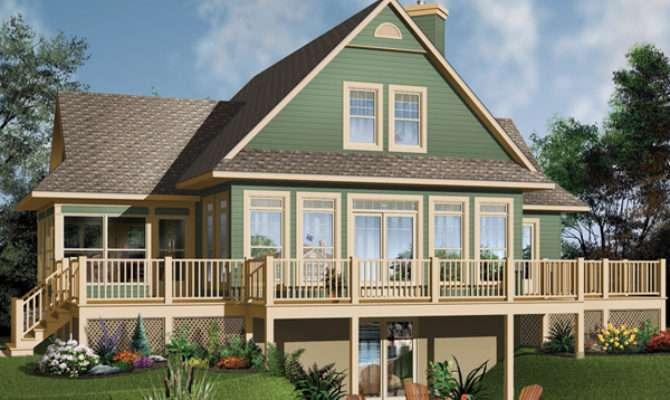 Crestwood Lake Waterfront Home Plan House