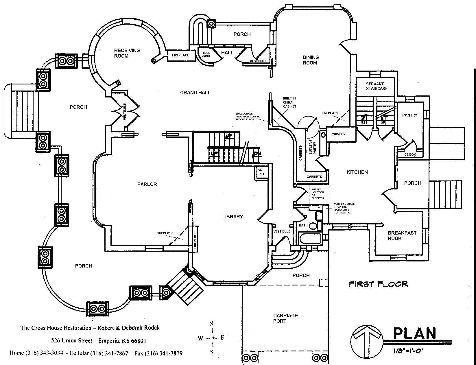 Cross House Blueprints